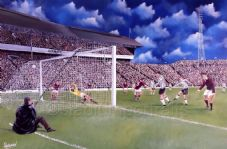 Dunfermline v Hearts  A3 poster print